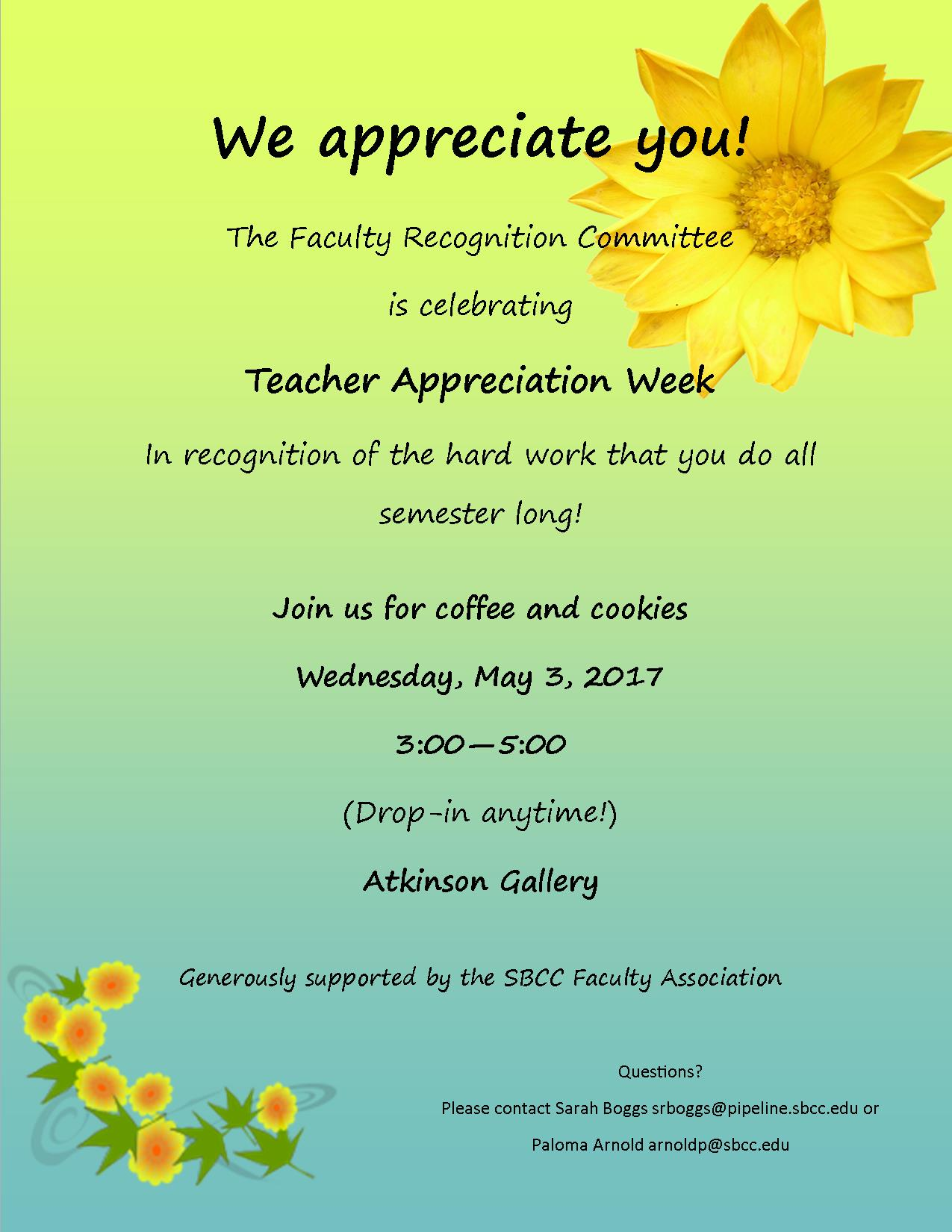 appreciation flyer